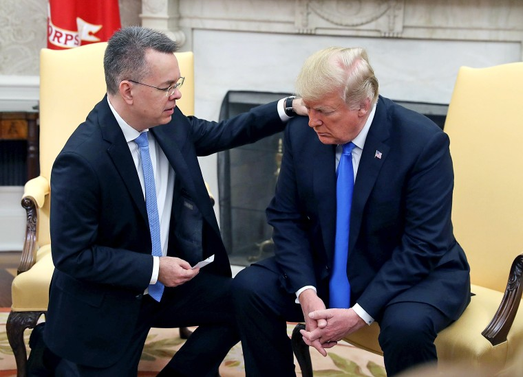 Image: President Trump Meets With Freed Pastor Andrew Brunson At The White House
