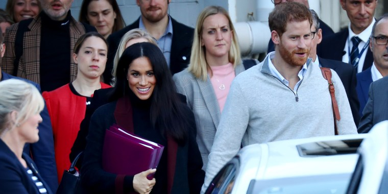 There were some subtle clues that Meghan, Duchess of Sussex, has a baby on the way.