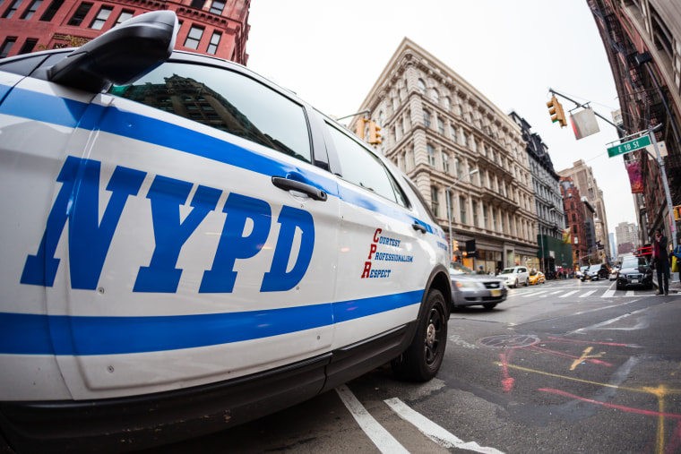 Image: A New York police vehicle