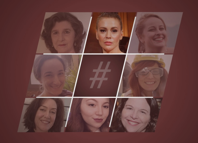 Seven women who were among the initial responders to Alyssa Milano's #MeToo tweet and Facebook post a year ago shared reflections on how their #MeToo moments drove them to rethink their careers and lives.