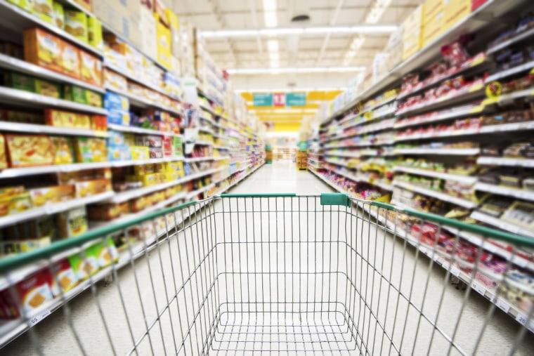 A supermarket aisle
