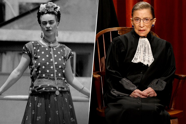 Frida Kahlo and Ruth Bader Ginsburg
