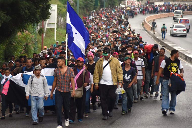 IMAGE: Honduran migrants in Guatemala