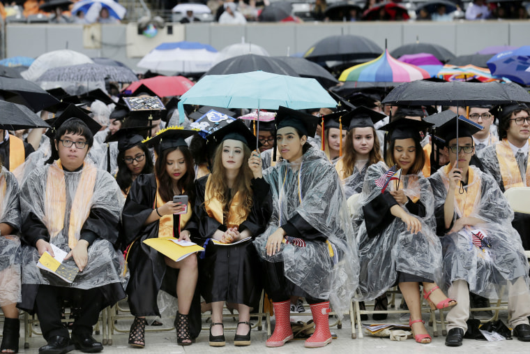 New graduates attend the Bergen Community College commencement in East Rutherford