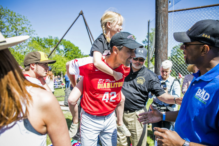 Democratic Candidate For Senate Beto O'Rourke Attends Fundraiser Baseball Game In Austin