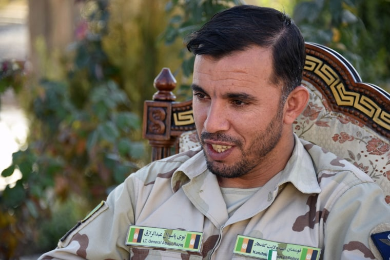 Image: Gen. Abdul Raziq, police chief of Kandahar, who was killed Thursday in a gun attack claimed by the Taliban.