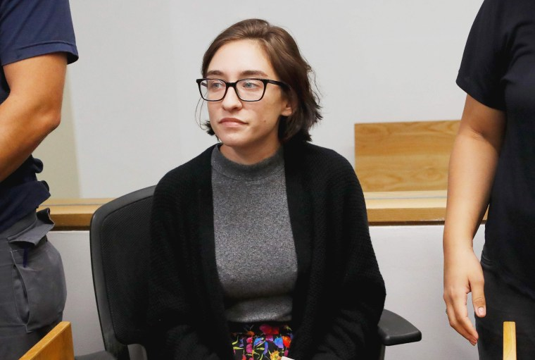Image: U.S. student Lara Alqasem sits for a hearing at the Tel Aviv district Court
