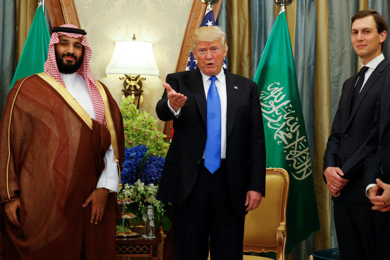 Image: U.S. President Trump meets with Saudi Arabia's Deputy Crown Prince Mohammed bin Salman in Riyadh