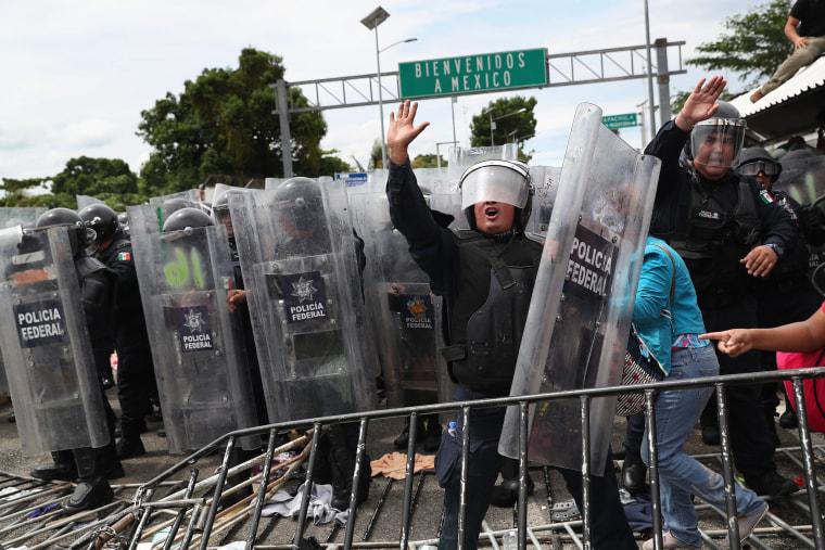 Migrant Caravan Crosses Into Mexico From Guatemala