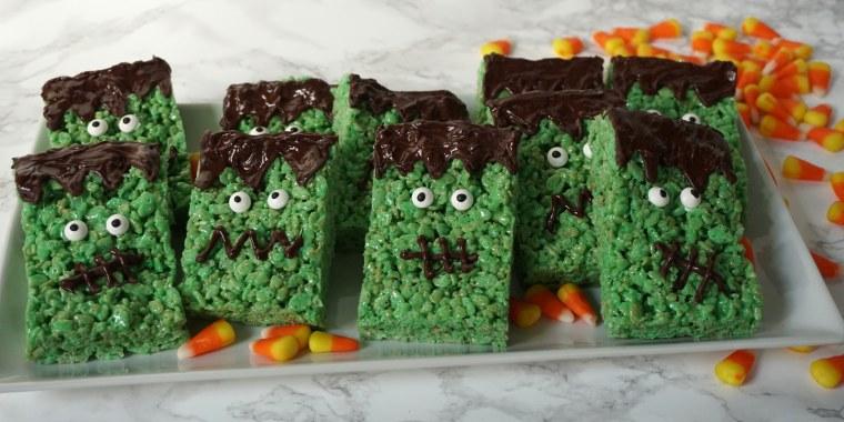 Frankenstein Cereal Treats