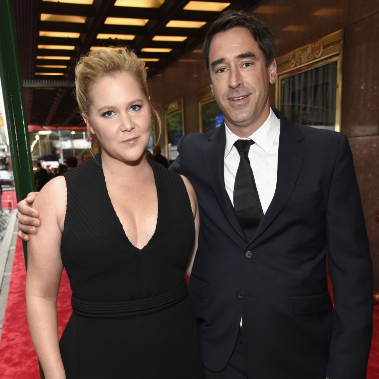 Amy Schumer and Chris Fischer at the 2018 Tony Awards