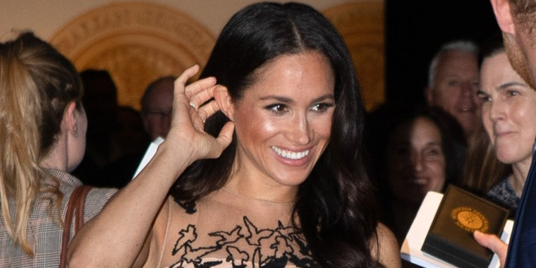 Meghan, Duchess of Sussex, wore a show-stopping Oscar de la Renta dress in Australia.