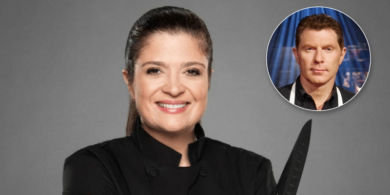 Alex Guarnaschelli and Bobby Flay