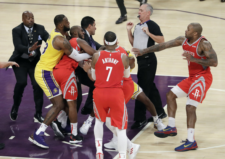 Image: Chris Paul, LeBron James, Rajon Rondo