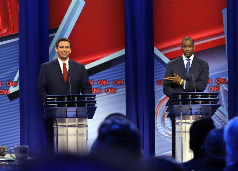 Image result for gillum and desantis debate