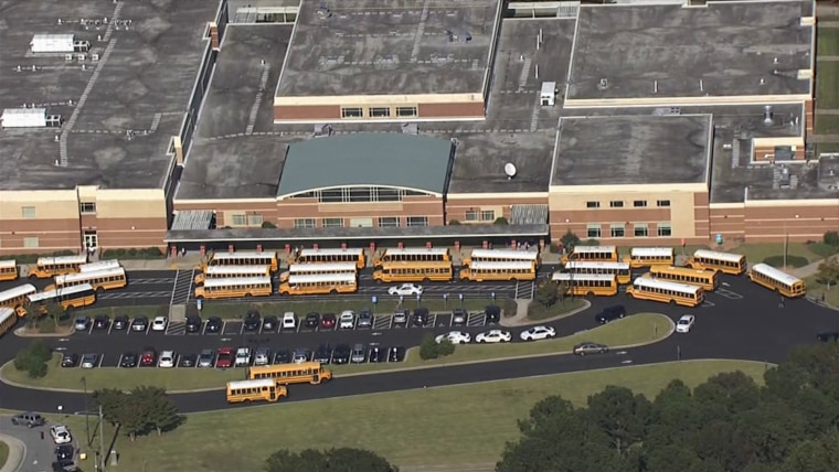 Trickum Middle School in Lilburn, Georgia where the principal said a student was taken into custody after stabbing a teacher during class