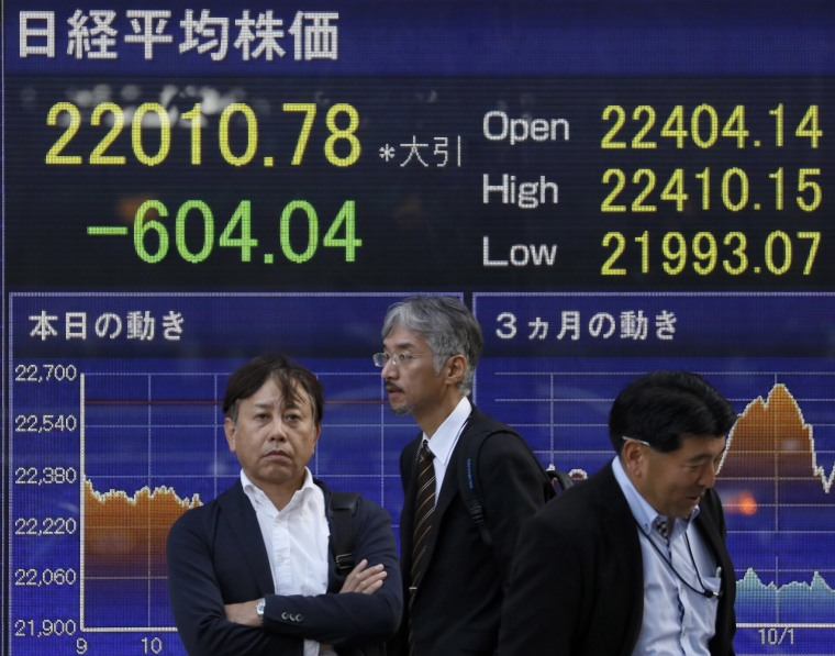 Image: Tokyo stock tumbled over 600 points
