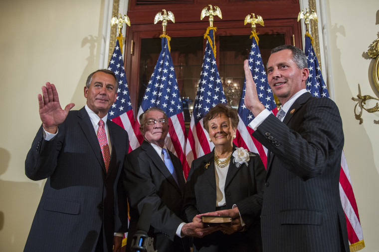 Image: Boehner Holds Ceremonial Swearing in of Jolly