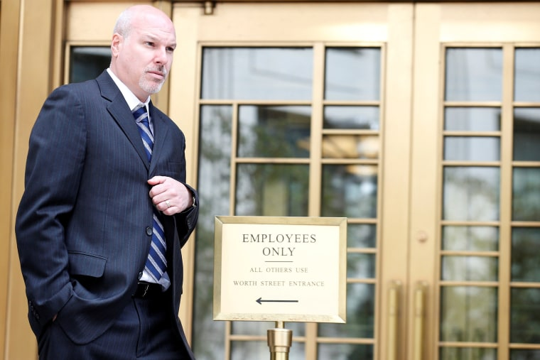 Image: James Gatto, former Adidas director of global sports marketing, exits the Manhattan Federal Courthouse in New York