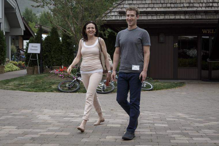 Image: Sheryl Sandberg, Mark Zuckerberg