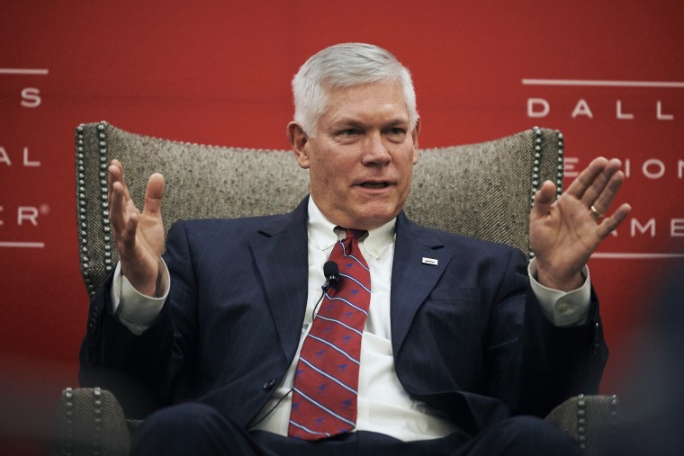 "Congressman Pete Sessions speaks during the Dallas Regional Chamber ""Congressional Forum"" in Dallas"
