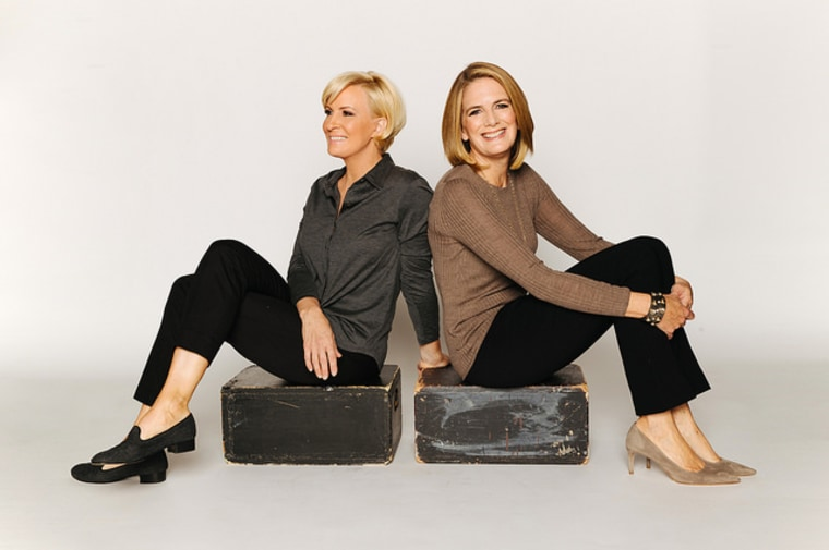 Ginny Brzezinski, right, is Know Your Value's comeback career contributor. She is co-writing a book on the subject with her sister-in-law, Mika Brzezinski, left.