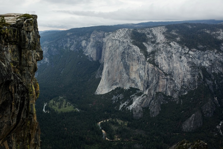 Taft Point in Yosemite National Park, California.