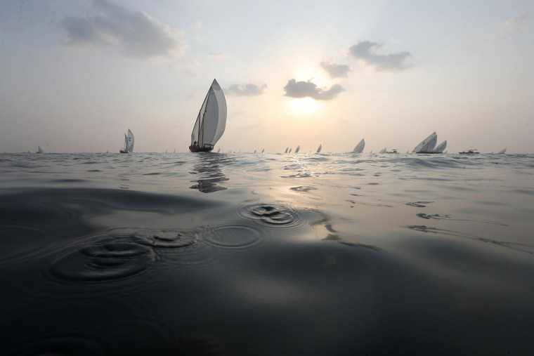 Image: TOPSHOT-UAE-SAILING-COMPETITION
