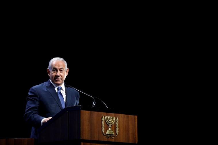 Israel's PM Netanyahu speaks at The Prime Minister's Israeli Innovation Summit in Tel Aviv