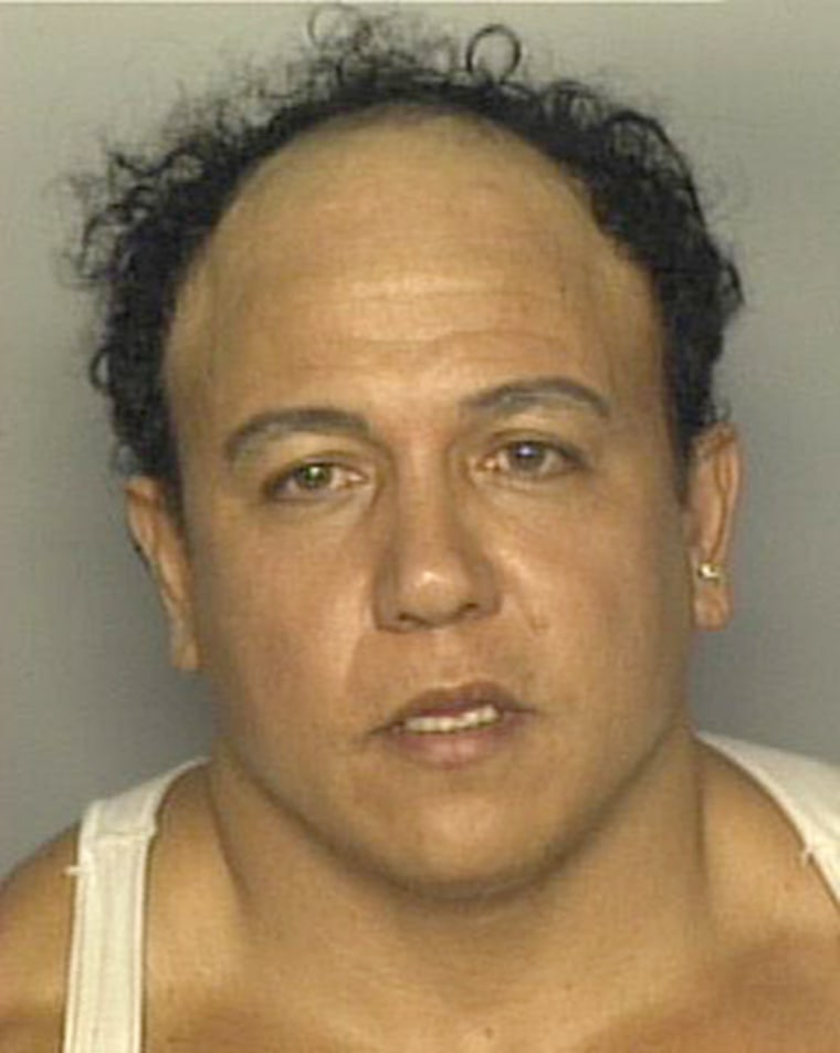 The 2002 mug shot of Caesar Syoc when he made a bomb threat, in Miami.