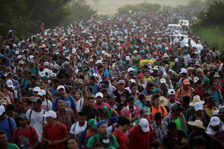 Image: Migrant caravan