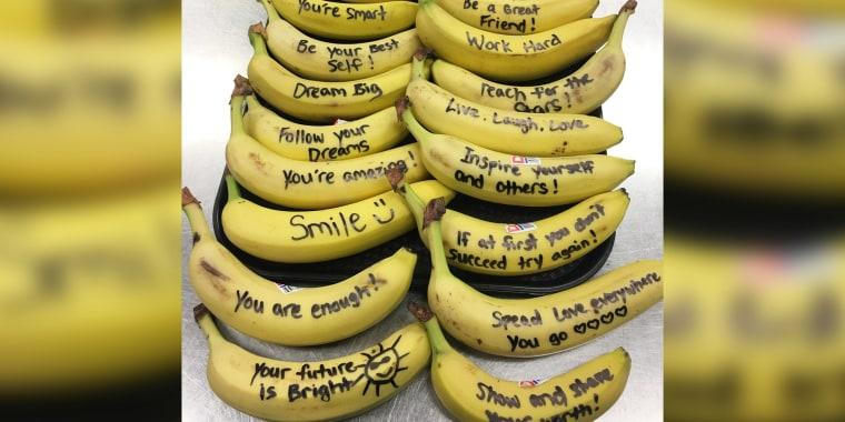 "Talking bananas"" at an elementary school in Virginia Beach."