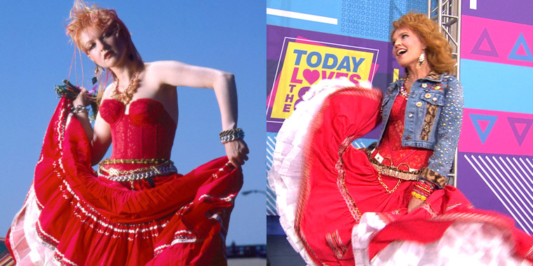 TODAY show Halloween: Savannah Guthrie as Cyndi Lauper