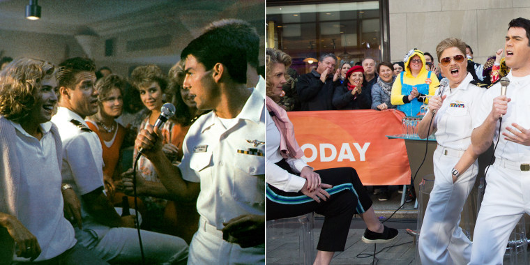 "TODAY show Halloween: Jenna Bush Hager and Peter Alexander as ""Top Gun"" characters"