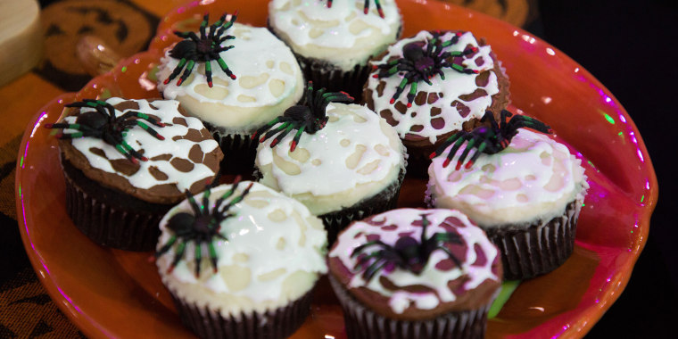 Anna Helm-Baxter's Mummy Pies, Ghoulish Gang Donuts, Happy Halloween Macarons, Sticky Spider Cupcakes