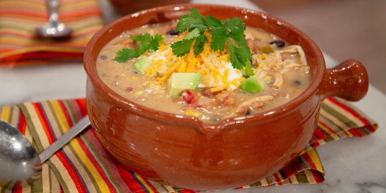 Martina McBride's Grilled Chicken, Chicken Tortilla Soup, Chicken Panini with Southwestern Pesto