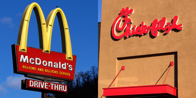 McDonald's and Chick-Fil-A