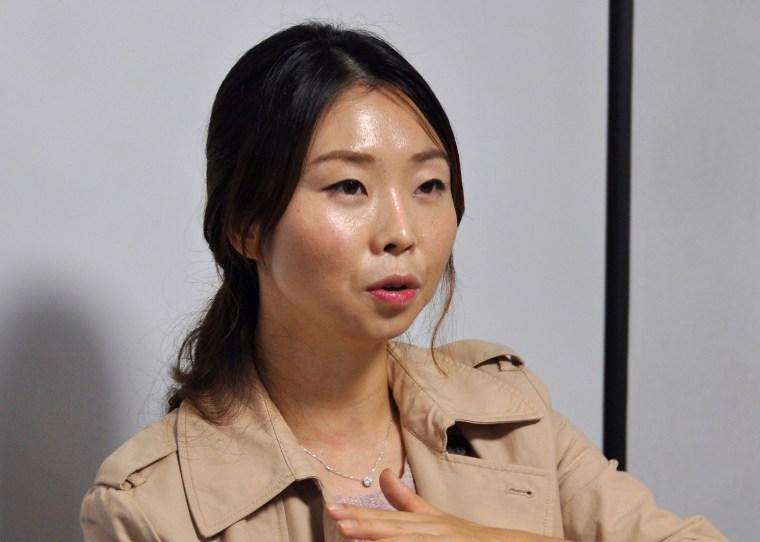 Image: Kim Eunsun talks in Seoul, South Ko   rea.