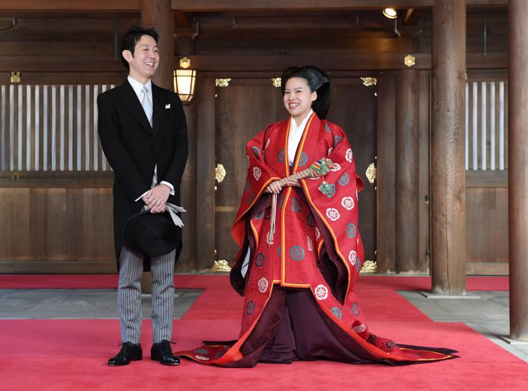 Image: Japanese Princess Ayako and Kei Moriya wedding ceremony