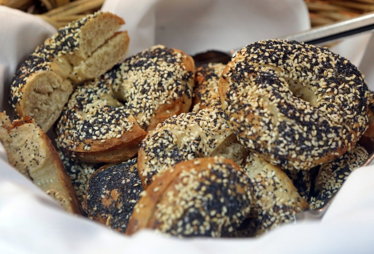 Image: Sesame bagels made in a cooking class