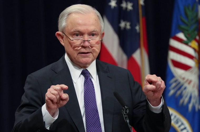 U.S. Attorney General Jeff Sessions speaks in Washington