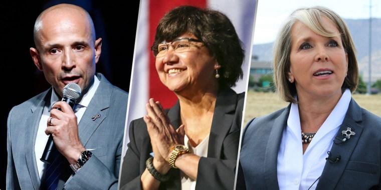 Image: David Garcia, Lupe Valdez, Michelle Lujan Grisham