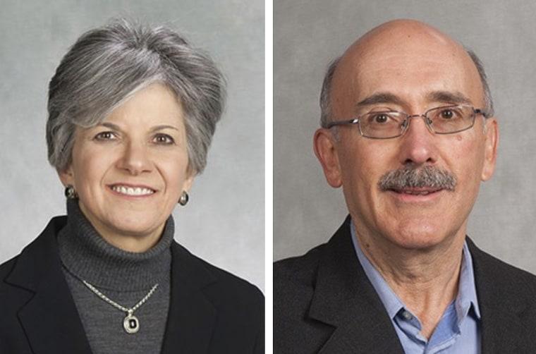 Susan Brill de Ramirez, left, and Antonio Ramirez Barron.