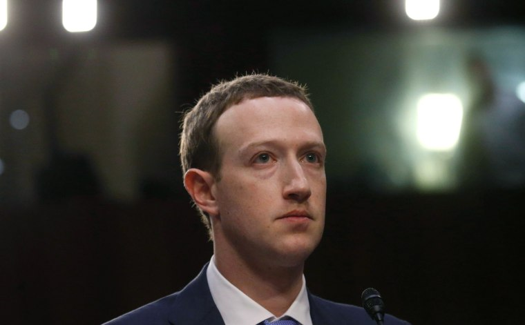 Facebook CEO Zuckerberg testifies before a U.S. Senate joint hearing on Capitol Hill in Washington