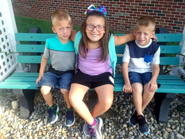 6-year-old twin boys Xzavier Ingle and Mason Ingle and their 9-year-old sister, Alivia Stahl.