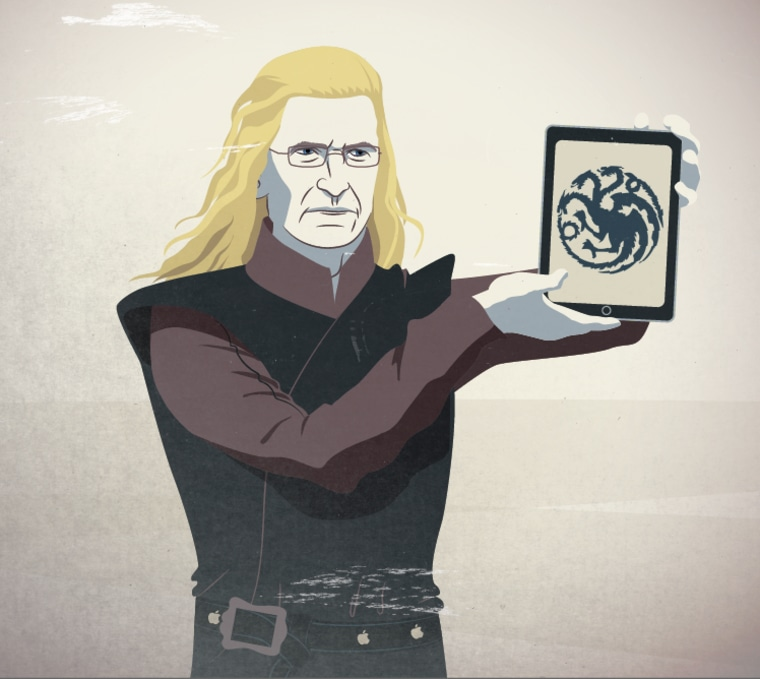 Apple CEO Tim Cook as the leader of House Targaryen.
