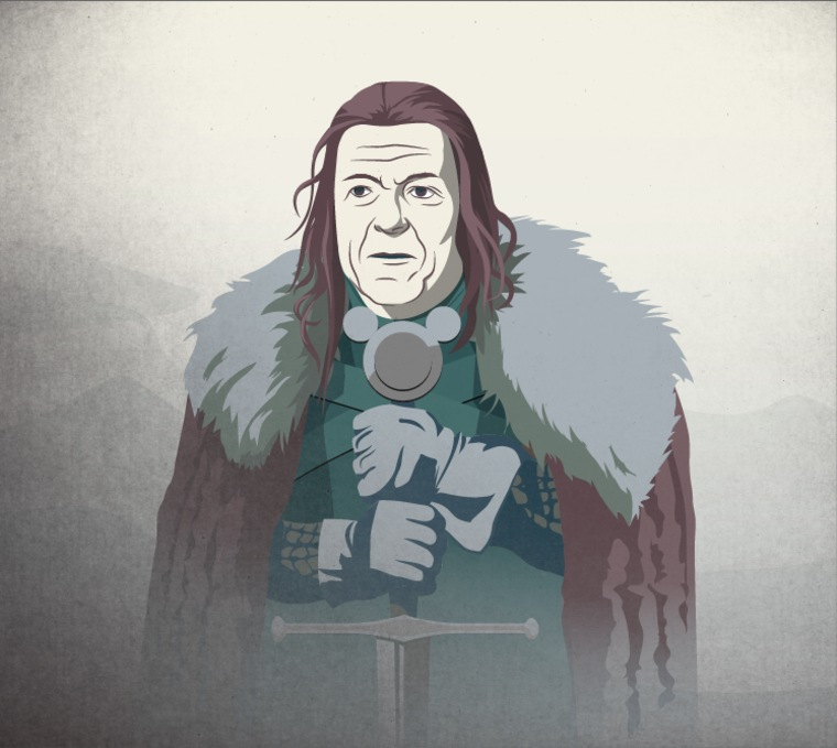 Disney CEO Bob Iger and as the leader of House Stark.