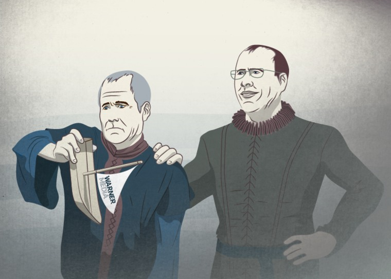 HBO CEO Richard Plepler and AT&T CEO Randall Stephenson as the purveyors of the Iron Bank.