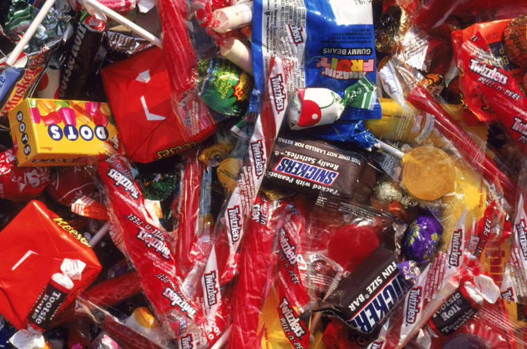 Assortment of candy