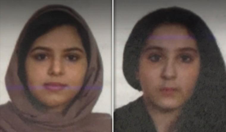 Rotana Farea, 22, and Tala Farea, 16.